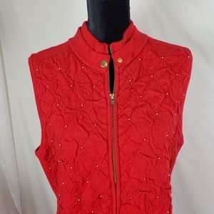Peck & Peck ❤  Beautiful red sleeveless jacket